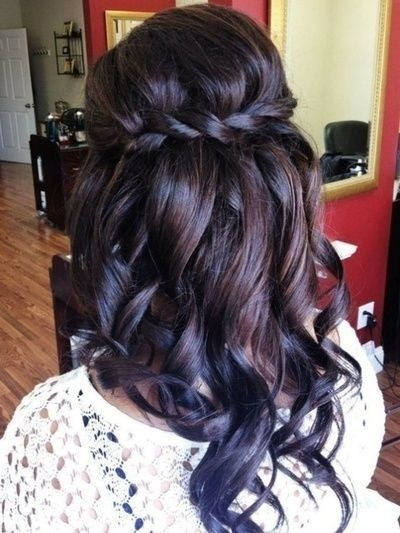 Pretty Bridesmaid Hairstyles For Long Hair