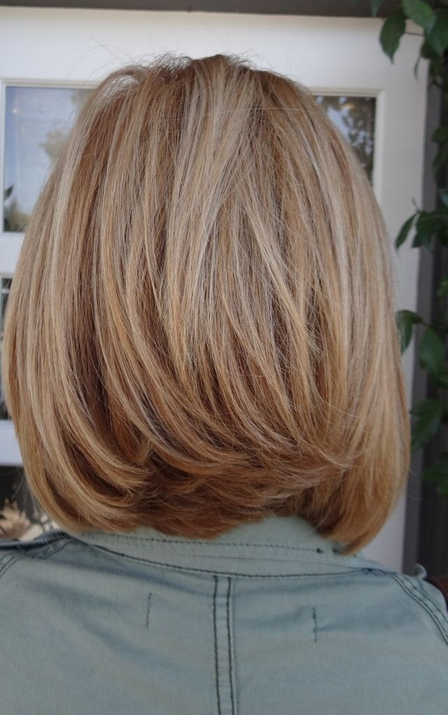 Bob haircuts with layers medium length