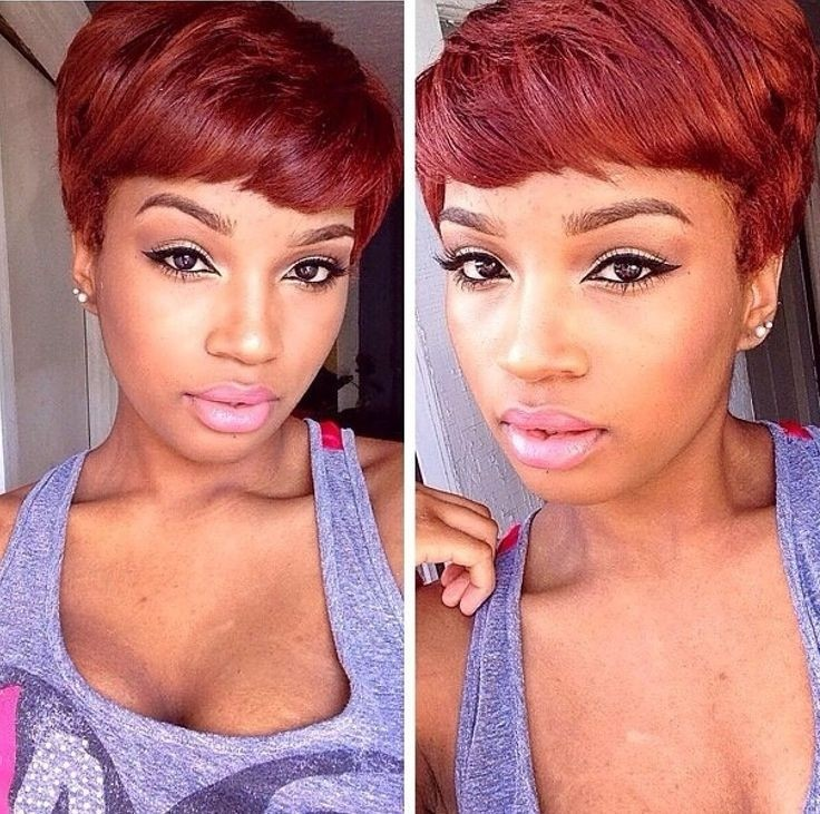 Red Pixie Haircut: Short Hair for African American Girls