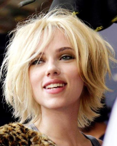 Scarlett Johansson Short Blonde Hair - PoPular Haircuts