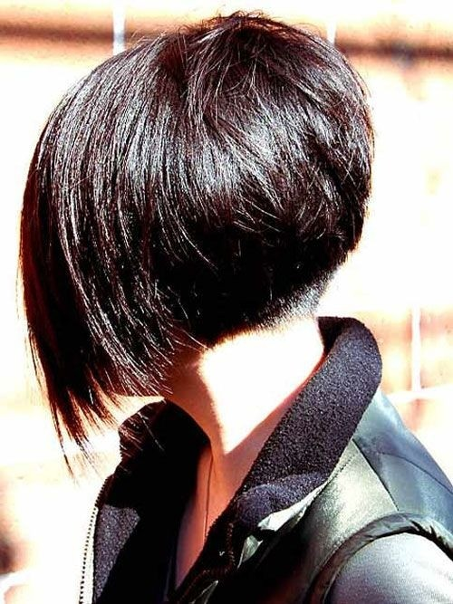 Short Angled Bob Hairstyles for Straight Hair