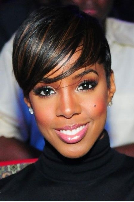 Short Pixie Cut: Black Women Straight Hair