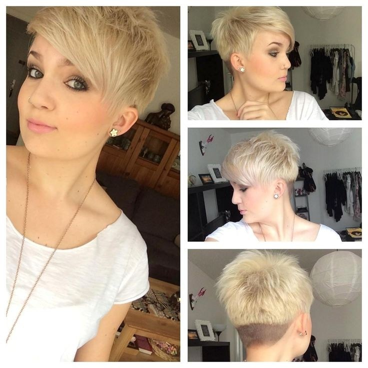Short Spikey Hairstyles With Side Bangs Cute Pixie Haircut