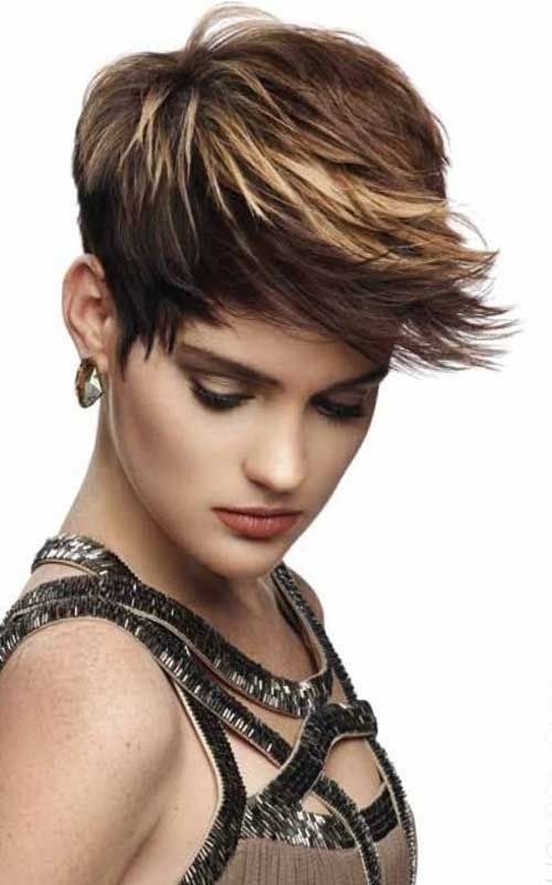 Spikey Pixie Haircut With Long Bangs Popular Haircuts