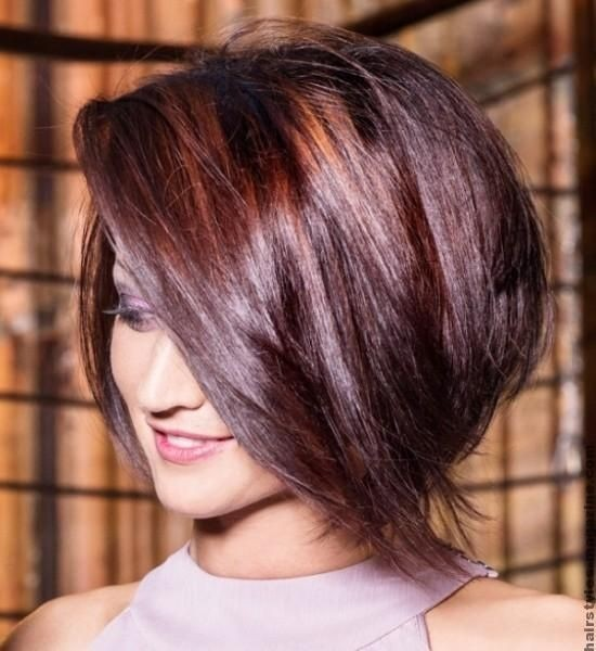 how to cut a layered bob with bangs