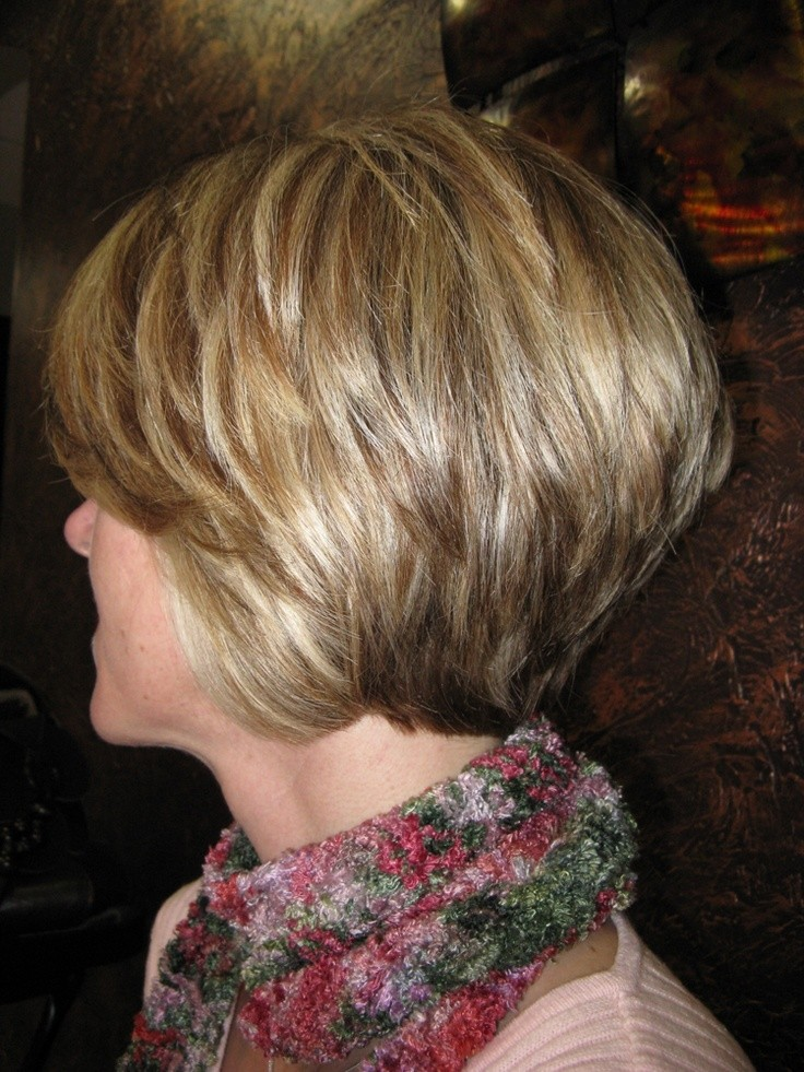 Stacked Layered Bob: Short Haricuts for Women Over 40 - 50
