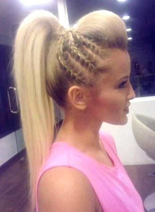 Unique Braid for High Ponytail