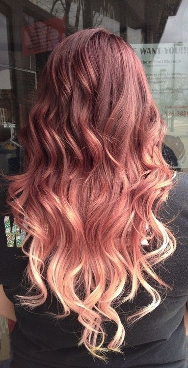 Various Shades of Red and Blonde Ombré