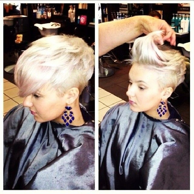 Vogue Short Hairstyles with Long Bangs