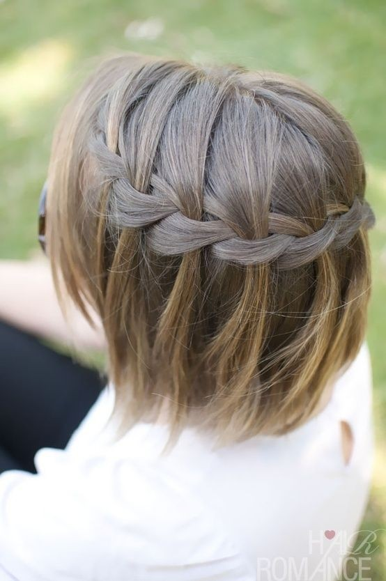 Waterfall Braid in Short Hair