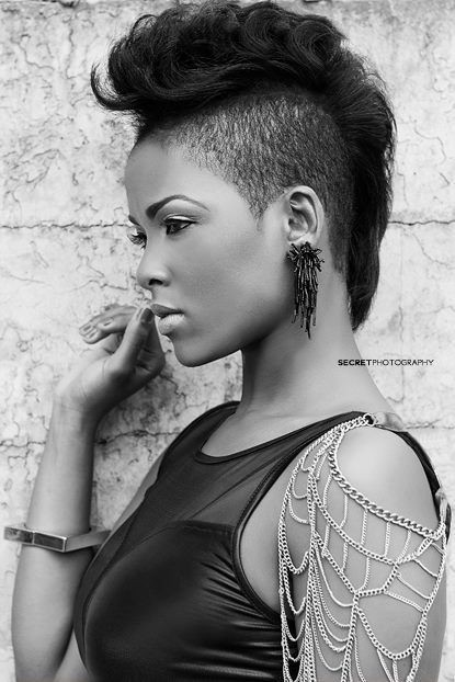 African American Hairstyles: Shaved Short Hair
