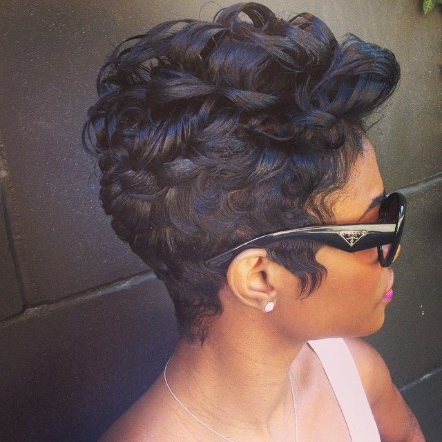 22 easy short hairstyles for african american women popular haircuts african american women hairstyles short curls urmus Choice Image