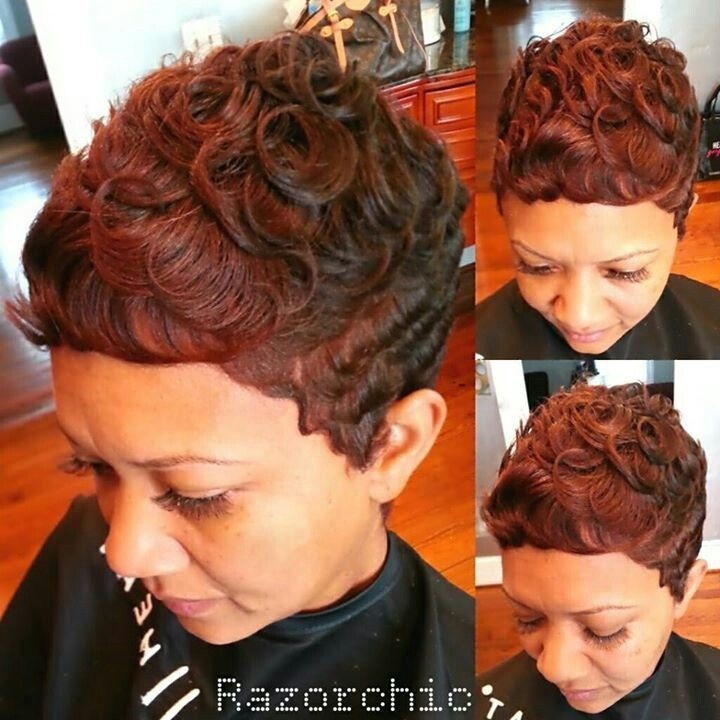 African American Women Short Hairstyles: Curly Pixie Cut