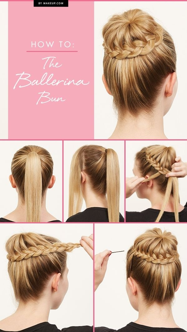 Ballerina Bun Updos for Long Hair