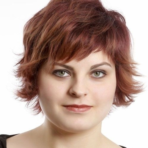 Round Full Face Women Hairstyles For Short Hair Popular Haircuts