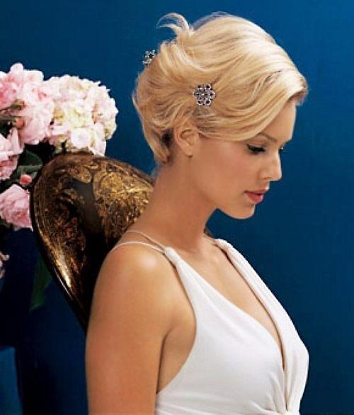 Bridesmaid Hairstyles Chic Short Hair For Wedding