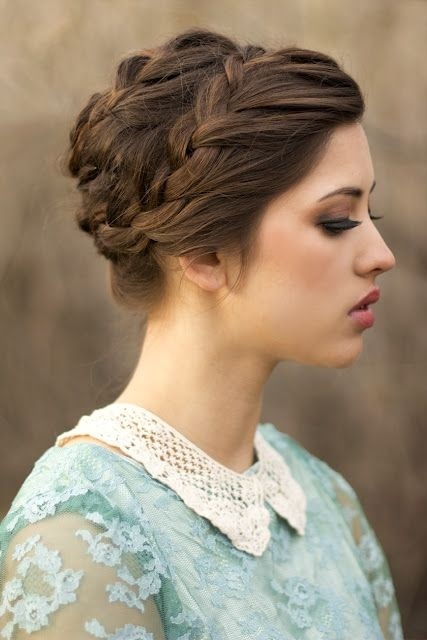 Chic Braided Updo Hairstyles Ideas