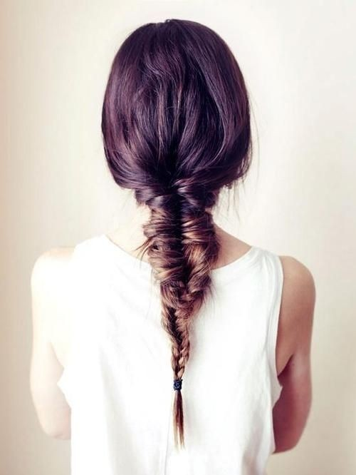 Chic French Fishtail Braid for Straight Long Hair