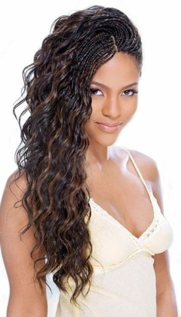 Cute african american braided hairstyle women hairstyles via