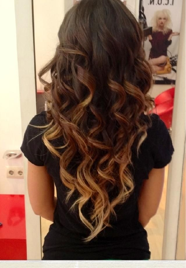 Cute Hairstyles for Long Hair: Dark Brown to Light Brown To Blonde Ombre