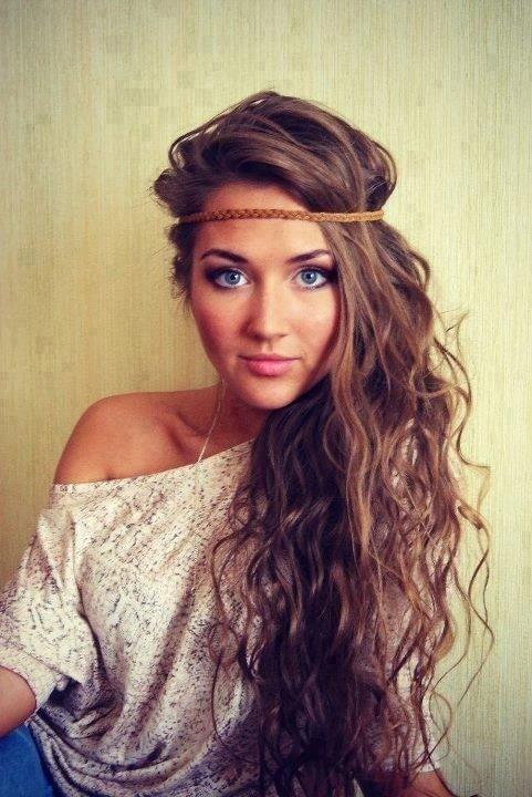 Cute Long Hair Style with Headband