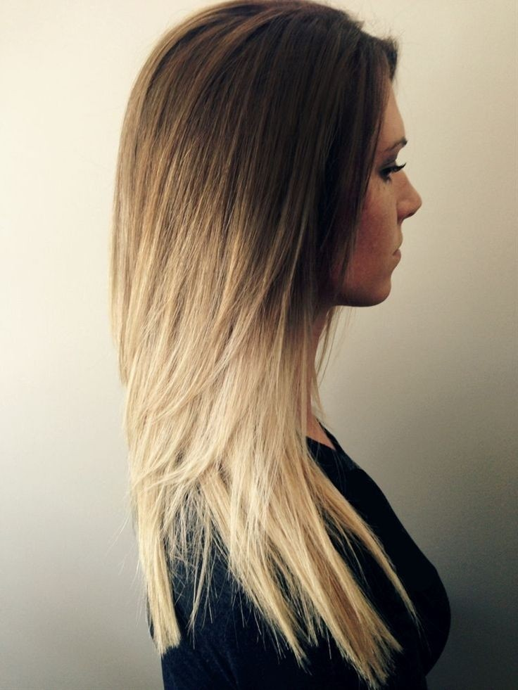 Cute Long Straight Hair: Ombre Hairstyle