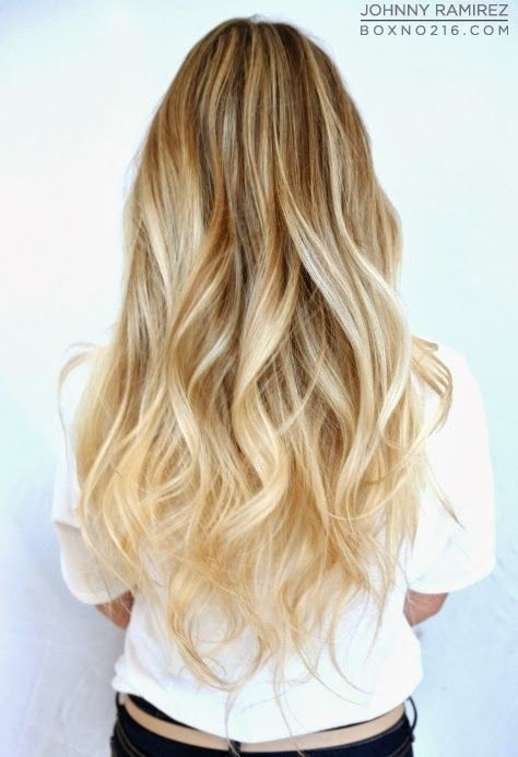 Cute Long Wavy Hair: Ombre Hairstyles