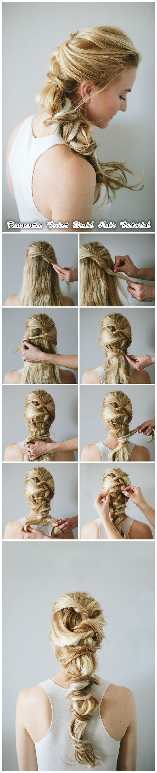 DIY Braid für langes Haar: Romantische Twist Braided Frisuren