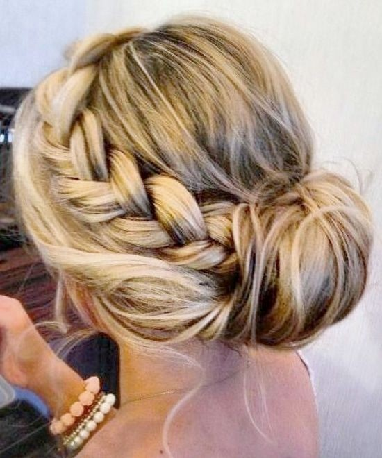 Braided Updo Hairstyles Tutorials Cute Easy Bun Updos For S