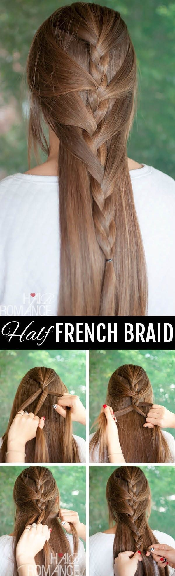 Half French Braided Hairstyle Tutorial: Chic Long Hairstyles Ideas