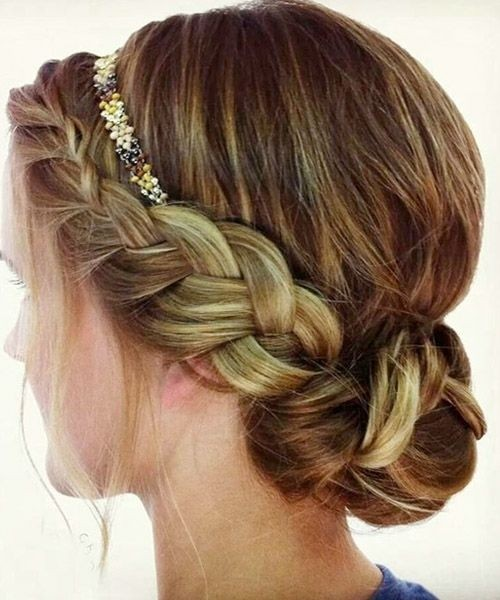 Headband Braid Hairstyle Side View