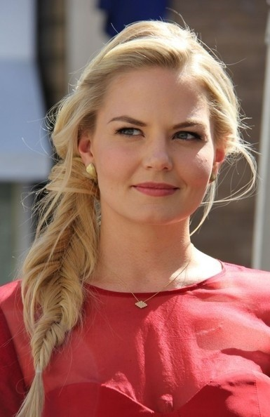 Jennifer Morrison Lange Frisuren: Messy Fishtail Braid