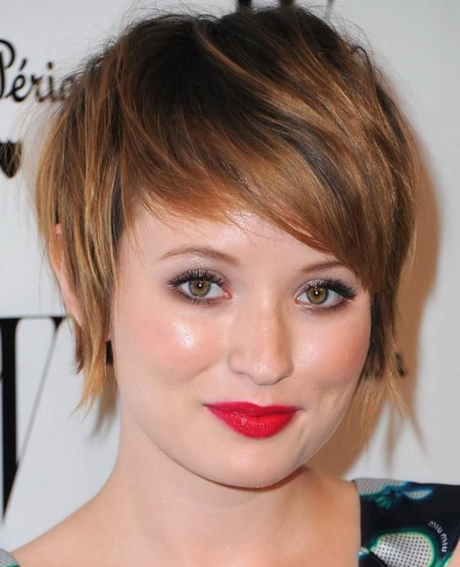 Cool Long Pixie Hairstyle For Round Face
