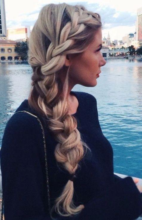 Loose Braid Hairstyle: So Cute