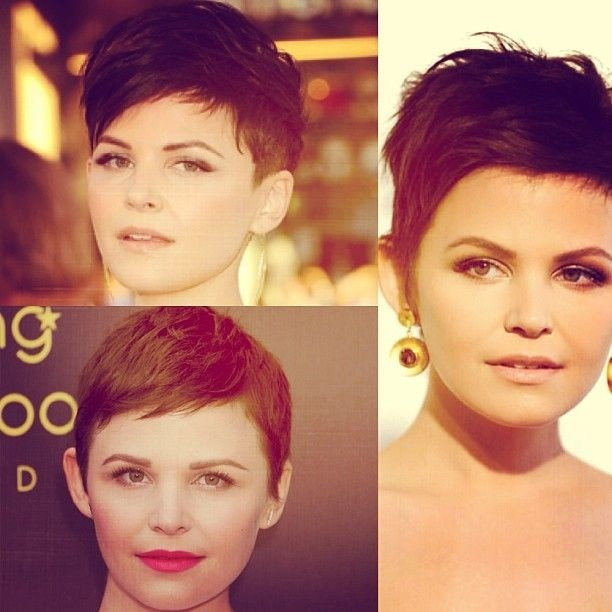 Lovely Pixie Cuts for Round Face Shape