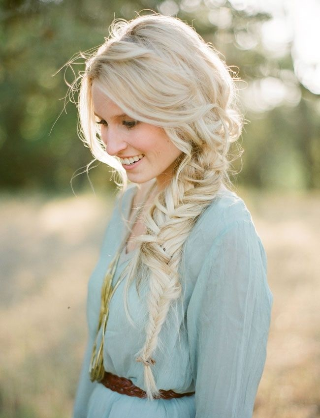 Messy, Loose Side Braid: Cute Long Hairstyles