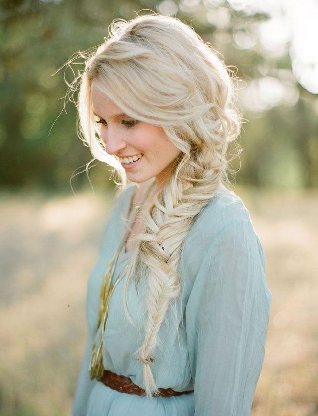 Messy, Loose Side Braid: Cute Long Hairstyles