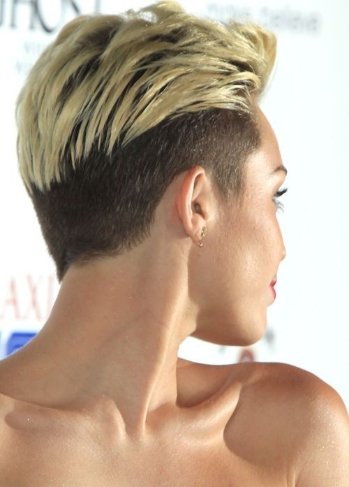 Miley Cyrus Short Haircut: Undercut Pixie for Short Hair / Via
