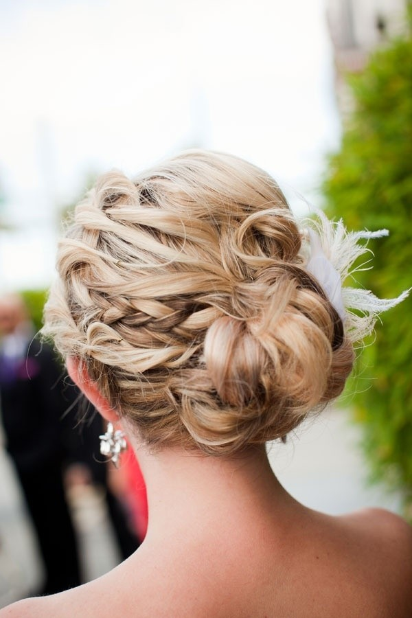 Pretty. Messy Braided Updo Hairstyle