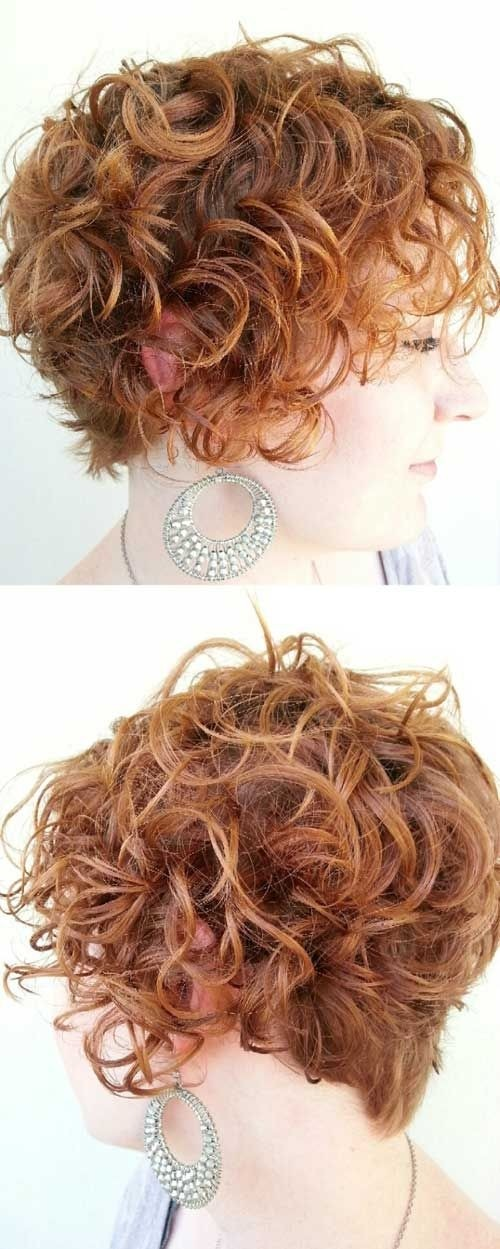 Short Haircuts for Curly Hair Side View: Round Full Face Women Hairstyles