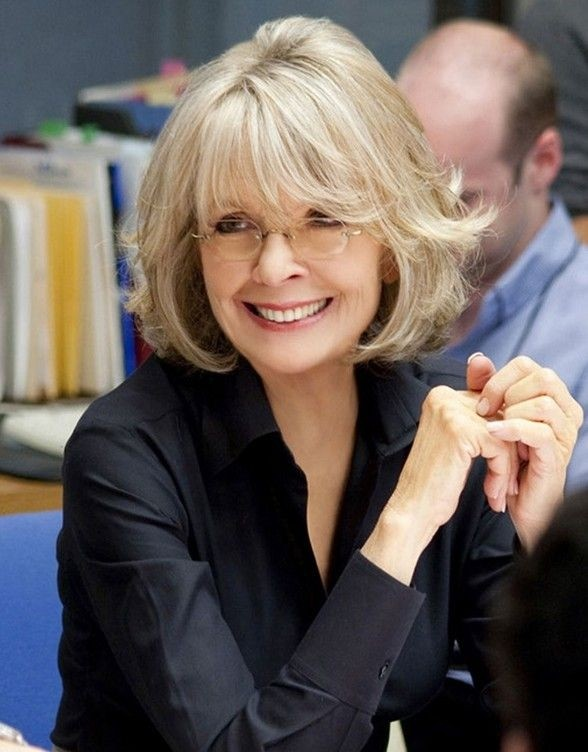 Short Haircuts for Women Over 50: Diane Keaton Hairstyle