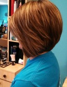 Stacked Bob Hairstyles for Round Faces