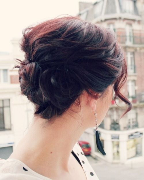 Triple Twist Updo for Short Hair: Women Hairstyles