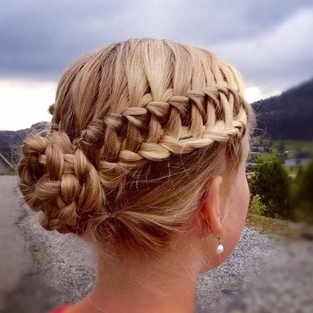 Waterfall Braid Into Lace Braid Updo: Homecoming Hairstyles 2014 - 2015