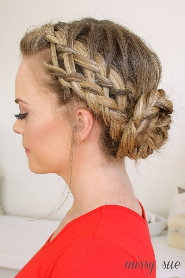 Waterfall, Dutch, French Braid Updo Hairstyle