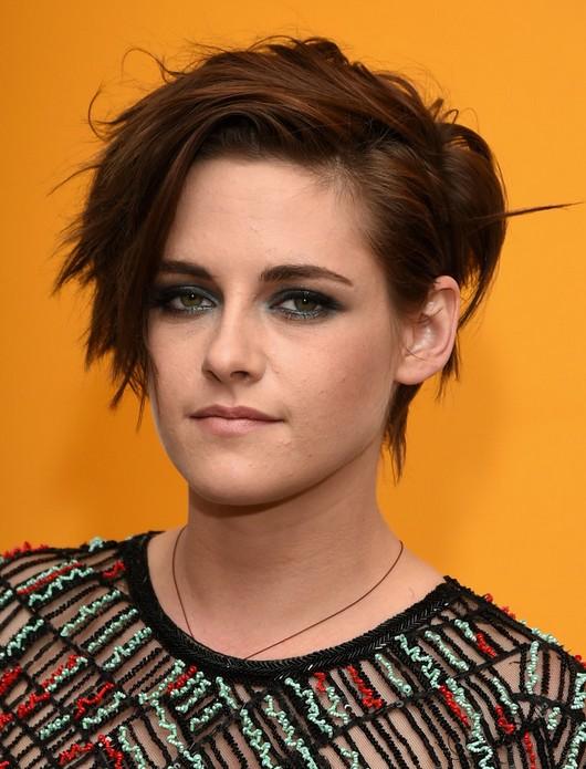Kristen Stewart Short Haircut - Messy Short Hairstyles with Side Bangs