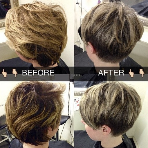 2015 Layered Short Hairstyles Ideas: Pixie Haircut for Thick Hair
