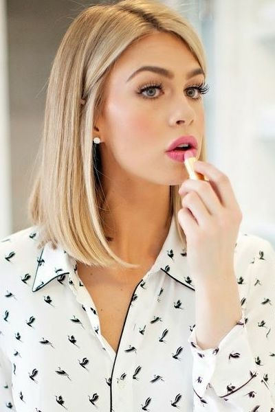 2015 Medium Hairstyles Ideas: Straight Long Bob Haircut / Via
