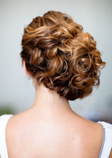 2015 Updo Hairstyles for Long Hair: Side Bun Updos / Via