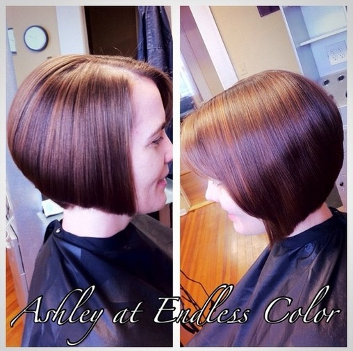 Angled Bob Hairstyle - Best Short Bob Hairstyles  width=